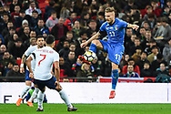 Italy Forward Ciro Immobile (17) in action during the Friendly match between England and Italy at Wembley Stadium, London, England on 27 March 2018. Picture by Stephen Wright.