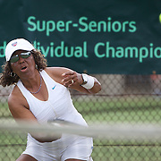 Roz King, USA, in action in the 70 Womens Singles during the 2009 ITF Super-Seniors World Team and Individual Championships at Perth, Western Australia, between 2-15th November, 2009.