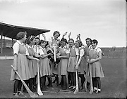 Camogie - All Ireland Senior Final at Croke Park - Dublin vs. Tipperary. Dublin are victorious - seen here celebrating after the match..02/08/1953