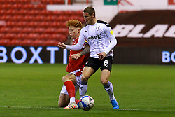 Jack Colback of Nottingham Forest puts a challenge in on Ben Wiles of Rotherham United - Mandatory by-line: Ryan Crockett/JMP - 20/10/2020 - FOOTBALL - The City Ground - Nottingham, England - Nottingham Forest v Rotherham United - Sky Bet Championship