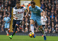 Football - 2016 / 2017 Premier League - Tottenham Hotspur vs. Stoke City<br /> <br /> Ramadan Sobhi of Stoke City and Kyle Walker of Tottenham at White Hart Lane.<br /> <br /> COLORSPORT/DANIEL BEARHAM