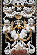 Details of the Chiesa di Santa Maria di Gesu. Palermo, Italy