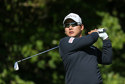 South Korea's Giwhan Kim tees off the 5th during day one of The Open Championship 2017 at Royal Birkdale Golf Club, Southport. PRESS ASSOCIATION Photo. Picture date: Thursday July 20, 2017. See PA story GOLF Open. Photo credit should read: Richard Sellers/PA Wire. RESTRICTIONS: Editorial use only. No commercial use. Still image use only. The Open Championship logo and clear link to The Open website (TheOpen.com) to be included on website publishing. Call +44 (0)1158 447447 for further information.