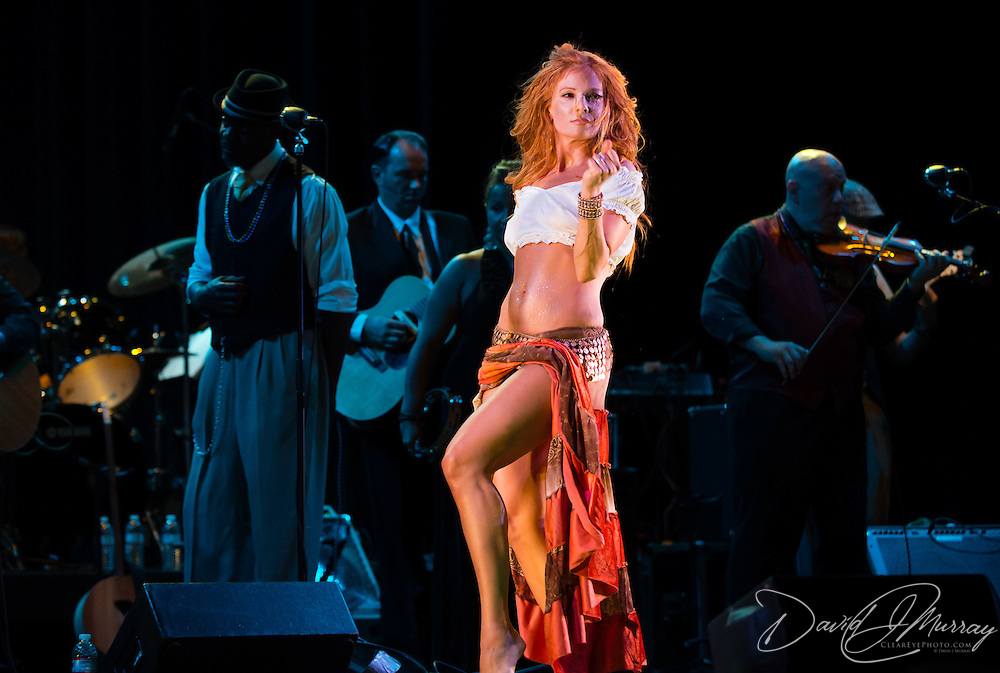 "Dawn Lewis aka ""Peaches Mahoney"" performs with Vaud and the Villains at The Music Hall in Portsmouth, NH. July 2012."