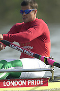 Peter Spurrier Sports  Photo.email pictures@rowingpics.com.Tel 44 (0) 7973 819 551..Photo Peter Spurrier.29/03/2002.2002 Thames World Sculling Challenge.Tibor Peto HUN [Mandatory Credit Peter Spurrier; Intersport Images]