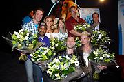 Premiere van Ice Age 2 - The Meltdown in Pathe de Munt amsterdam waar de stemmencast aanwezig was.<br /> <br /> Op de foto:<br /> <br />  Sipke Jan Bousema, Chris Silos, Nicolette van Dam, Sita Vermeulen, Eddy Zoey, Jack Wouterse, Tygo Gernandt, Carlo Boszhard