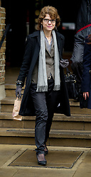 © London News Pictures. 14/02/2013 . London, UK.  Vicky Pryce arriving at Southwark Crown Court on February 14, 2013 where the jury is expected to go out to consider a in her trial for perverting the course of justice. Vicky Pryce admitted accepting penalty points incurred by her former husband and disgraced MP Chris Huhne in 2003. Photo credit : Ben Cawthra/LNP