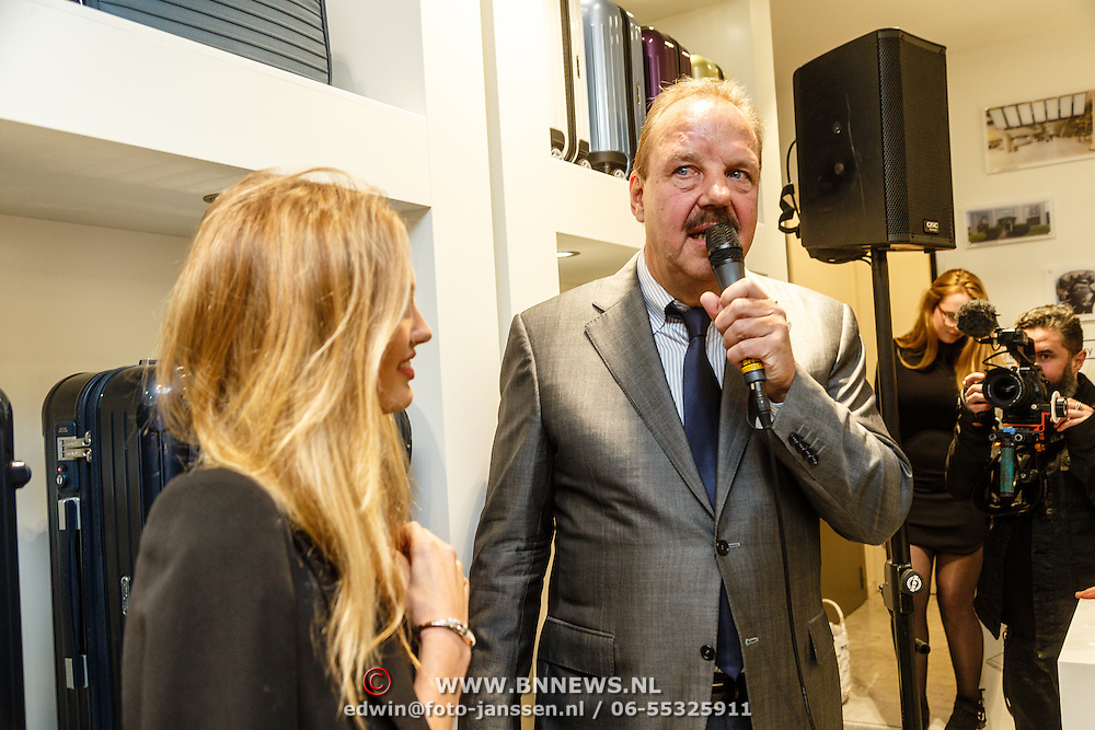 NLD/Amsterdam/20160223 - Opening 1e brandstore Rimowa, Romee Strijd en .............