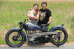 "Invited builder Matt Olsen's custom Harley-Davidson ""One of One"" on the way home after the Born Free Vintage Chopper and Classic Motorcycle Show. Boulder, CO. USA. July 8, 2014.  Photography ©2014 Michael Lichter."