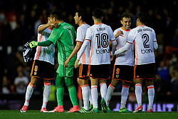 April 6, 2017 - Valencia, Valencia, Spain - Valencia CF players celebrate the victory during the La Liga match between Valencia CF and Real Club Celta de Vigo at Mestalla Stadium on April 6, 2017 in Valencia, Spain. (Credit Image: © David Aliaga/NurPhoto via ZUMA Press)