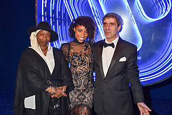 Lianne La Havas and her parents Henry Vlahavas and ? at the Warner Music & Ciroc Brit Awards party, Freemasons Hall, 60 Great Queen Street, London England. 22 February 2017.