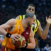Galatasaray's Ermal KURTOGLU (F) during their Turkish Basketball league Play Off Final third leg match Galatasaray between Fenerbahce Ulker at the Abdi Ipekci Arena in Istanbul Turkey on Thursday 09 June 2011. Photo by TURKPIX