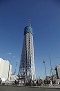 Tokyo Sky Tree Broadcasting Tower under construction
