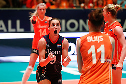 20180531 NED: Volleyball Nations League Netherlands - Brazil, Apeldoorn<br />Myrthe Schoot (9) of The Netherlands <br />©2018-FotoHoogendoorn.nl