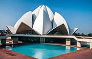India, Delhi, The Bahai Lotus temple,