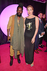 ROY LUWOLT and MARY ALICE MALONE at The Naked Heart Foundation's Fabulous Fund Fair hosted by Natalia Vodianova and Karlie Kloss at Old Billingsgate Market, 1 Old Billingsgate Walk, London on 20th February 2016.