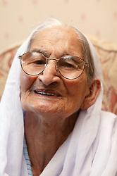 Portrait of a Sikh elderly grandmother,