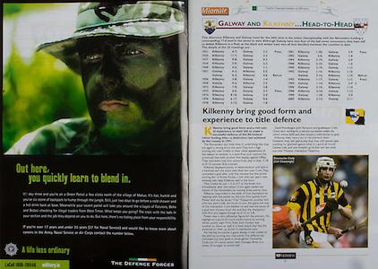 All Ireland Senior Hurling Championship - Final,.14092003AISHCF,.14.09.2003, 09.14.2003, 9th September 2003,.Senior Kilkenny 1-14, Cork 1-11,.Minor Kilkenny 2-16, Galway 2-15,.The Defence Forces,
