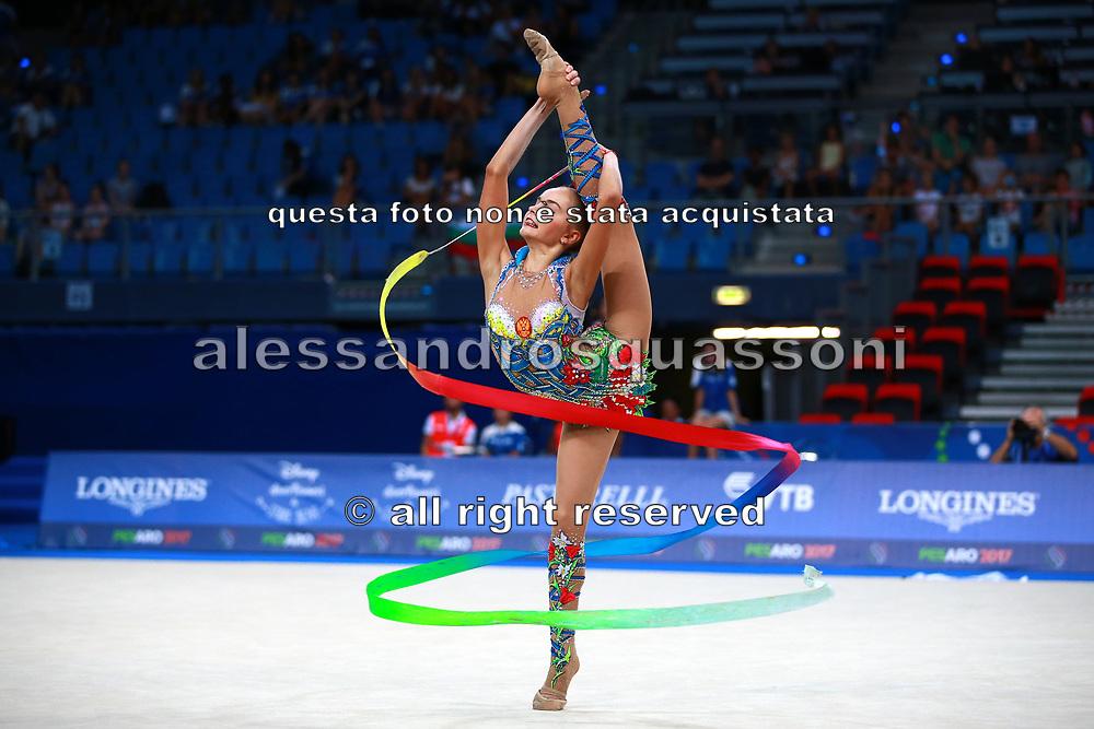 Arina Averina is a Russian gymnast. Begins practicing rhythmic gymnastics at 4 years. Her twin sister, Dina is also a competitive rhythmic gymnast.<br /> She born born on August 13, 1998.