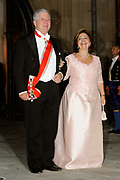 Gala dinner on the occasion of the civil wedding of Grand Duke Guillaume and Princess Stephanie at the Grand-Ducal palace in Luxembourg <br /> <br /> On the photo: Prince Alexander of Serbia with wife Princess Katherine