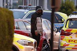 © Licensed to London News Pictures. 19/03/2019. London, UK. Armed stand-off comes to an end as the suspect gets out of his car and surrenders to police after 10 hours. Police earlier surrounded a red car where a man was thought to be holding a gun near Lower Addiscombe Road in south London. He reportedly threatened to kill people. Photo credit: Peter Macdiarmid/LNP
