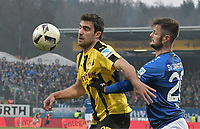 v.l. Sokratis Papastathopoulos (Dortmund), Marcel Heller<br /> Darmstadt, 11.02.2017, Fussball Bundesliga, SV Darmstadt 98 - Borussia Dortmund 2:1<br /> <br /> Norway only