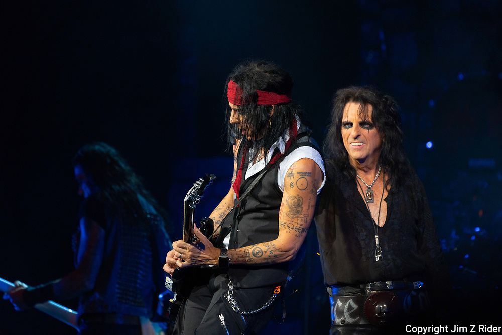 TOMMY HENRIKSEN performs with ALICE COOPER. After nearly 19 months off stage, Rock and Roll legend ALICE COOPER, 73, launched his fall 2021 tour at Ocean Casino Resort in Atlantic City, New Jersey.