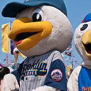 """Brooklyn Cyclones Mascots """"Sandy the Seagull"""" and Pee Wee at the Coney Island Mermaid Parade in Brooklyn - June 19, 2010"""