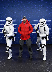 Tom Hardy with Stormtroopers at the launch of Star Wars: Season Of The Force on January 21, 2017 in Disneyland Paris, France. Photo by Jon Furniss/Disney/ABACAPRESS.COM