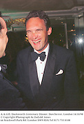 A.A.Gill. Duckworth Centenary Dinner. Dorchester, London 14/10/98<br />© Copyright Photograph by Dafydd Jones<br />66 Stockwell Park Rd. London SW9 0DA<br />Tel 0171 733 0108