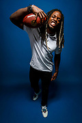 Los Angeles Chargers running back Melvin Gordon poses for a portrait at the NFL Network studio in Culver City, Calif., on July 12, 2017. (Ryan Kang via AP)