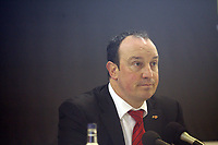 Photo: Marc Atkins.<br /> Watford v Liverpool. The Barclays Premiership. 13/01/2007. Liverpool Manager Rafael Benitez takes questions from the press after the match.