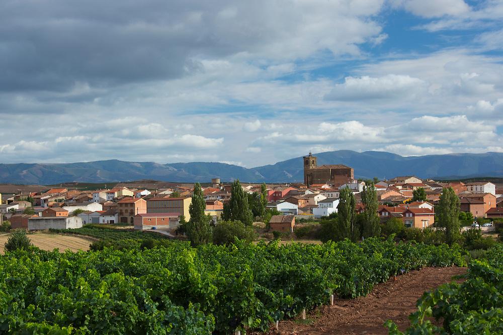 Town along the Camino de Santiago de Compostela route in Castilla y Leon, Northern Spain