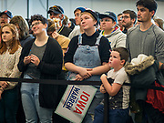 16 NOVEMBER 2019 - WAVERLY, IOWA: People listen to Senator Elizabeth Warren (D-MA) speak at Wartburg College. Sen. Warren campaigned at Wartburg College in Waverly Saturday afternoon. She is running to be the Democratic candidate for the US Presidency in the 2020 election. Iowa hosts the first selection event of the presidential election season. The Iowa caucuses are February 3, 2020.          PHOTO BY JACK KURTZ