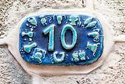 Ceramic numbers the number Ten