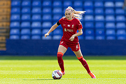BIRKENHEAD, ENGLAND - Sunday, August 29, 2021: Liverpool's Charlotte Wardlaw during the FA Women's Championship game between Liverpool FC Women and London City Lionesses FC at Prenton Park. London City won 1-0. (Pic by Paul Currie/Propaganda)
