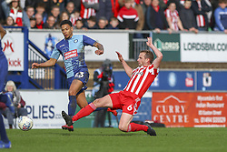 March 9, 2019 - High Wycombe, Buckinghamshire, United Kingdom - Sunderalnds Lee Catermol wins the ball during the Sky Bet League 1 match between Wycombe Wanderers and Sunderland at Adams Park, High Wycombe, England  on Saturday 9th March 2019. (Credit Image: © Mi News/NurPhoto via ZUMA Press)