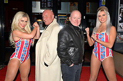 Pictured are Roxanna, London Gangster Dave Courtney, Eastender Steve McFadden and Natalie.<br /> London gangster Dave Courtney arrives on the red carpet for the film premiere of 'Full English Breakfast' that he stars in, at The Prince Charles Cinema, London, UK.<br /> Tuesday, 25th March 2014. Picture by Ben Stevens / i-Images