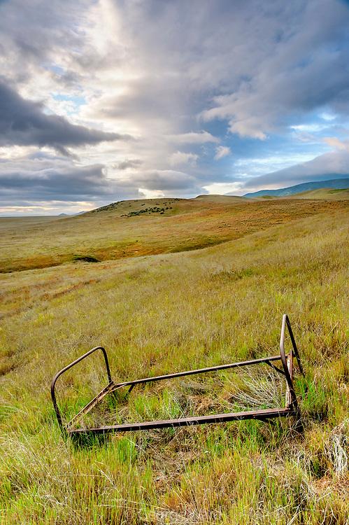Bedframe in the Hills,Carrizo Plain National Monument, California