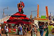 20 foot statue of flamenco dancer guides people to a tapas bar, Glastonbury Festival 2010