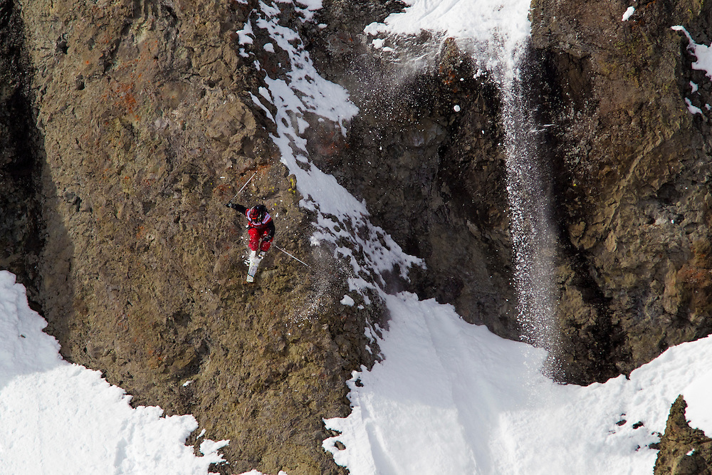 EVENT: NISSAN TRAM FACE - SQUAW VALLEY USA 2010, RIDER: SEBASTIEN HANNEMANN - GER, SPORT: SKI, STYLE: ACTION.Freeride World Tour 2010.Four locations around the world have been selected for the third edition of the Freeride World Tour. .The planet's top freeride skiers and snowboarders will travel to Russia, USA, France and Switzerland to prove their skills on some of the world's most challenging faces. .The Freeride World Tour has a prize purse of more than $200,000, the highest sum ever to be paid in ski or snowboard freeride contests.