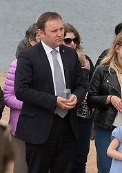 Pictured: Ian Murray, MP, Labour Shadow Secretary of State for Scotland<br /> <br /> Portobello resident and former colleague of murdered MP Jo Cox, Kim Wallace, organised a tribute event on Portobello beach at which locals were invited to remember Jo and to light candles for her.<br /> <br /> <br /> © Jon Davey/ EEm