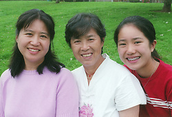 Three generations of woman members of a family,