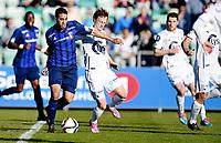 Fotball , 19. april 2015 ,   Eliteserien , Tippeligaen <br /> Stabæk - Viking<br /> Andre danielsen  , Viking<br /> Yassine El Ghanassy , Stabæk<br /> Foto: Digitalsport