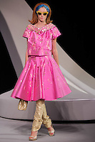 Milagros Schmoll walks the runway  at the Christian Dior Cruise Collection 2008 Fashion Show
