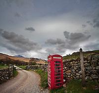 Public Phone Box, Lake District, Cumbria, UK