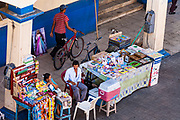11 JANUARY 2007 - LEON, NICARAGUA: A vendor's stall on a street in Leon, Nicaragua. Leon was established in 1524 and was the capitol of what is now Nicaragua for more than 200 years. It was heavily damaged during the Sandanista war against the Somoza regime and it still one of the most liberal cities in Nicaragua.  Photo by Jack Kurtz