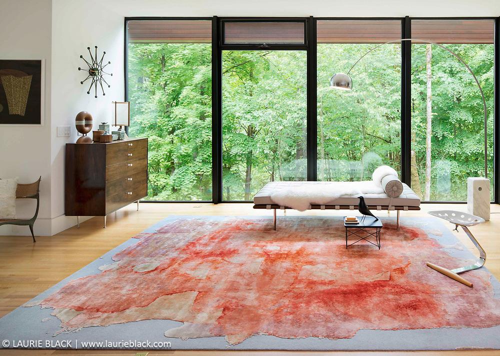Rug Star handmade rug in a Portland residence
