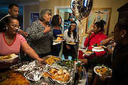 Friends and family gather at the South Shore home of Nailah Bradley for her prom send-off party Saturday, May 17, 2014. (Brian Cassella/Chicago Tribune) B583716572Z.1  ....OUTSIDE TRIBUNE CO.- NO MAGS,  NO SALES, NO INTERNET, NO TV, CHICAGO OUT, NO DIGITAL MANIPULATION...