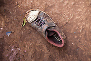 A child's shoe at the AFCIC centre in Thika, Kenya. AFCIC - Action for children in conflict, help children who have been affected by various forms conflict or crisis.
